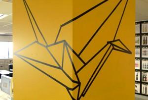 Paper Crane Mural