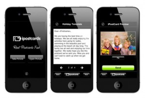 Send a postcard from your iPhone