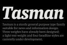 The Typeface: Tasman