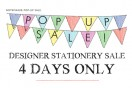 Notemaker's pop-up stationery sale