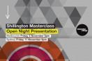 Shillington Masterclass open nights