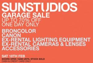 Sun Studios garage sale