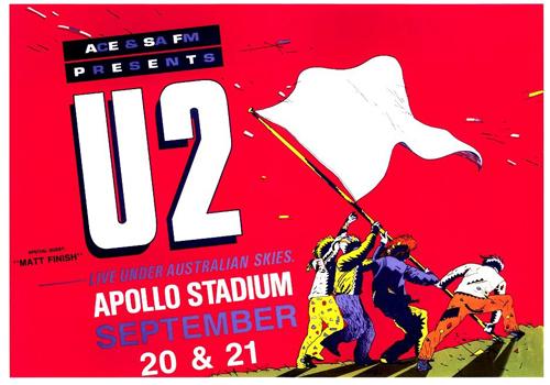 U2 poster design by Chris Grosz