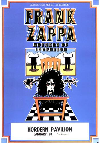 Frank Zappa poster design by Chris Grosz