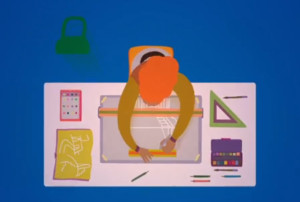 Flat and fluid: Gorgeous animation for Vitra
