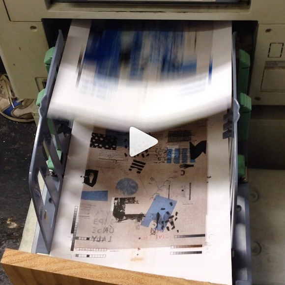 Test prints for our next issue coming out of the Riso machine at #DawnPress!!! A whole issue dedicated to designers who self-publish or start their own independent publishing companies. Can't wait to share it with you in August! Remember we're subscription only!!! #design #graphicdesign #publishing #riso