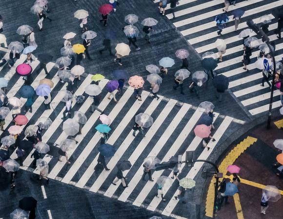 Shibuya crossing on a rainy day, by Silvian Heach