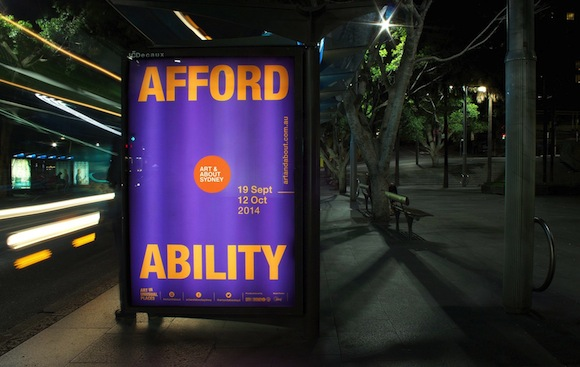 Toko's identity design for the Art & About Festival, City of Sydney (2014).