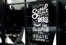 Slick's Barbershop Window Art Mural_23