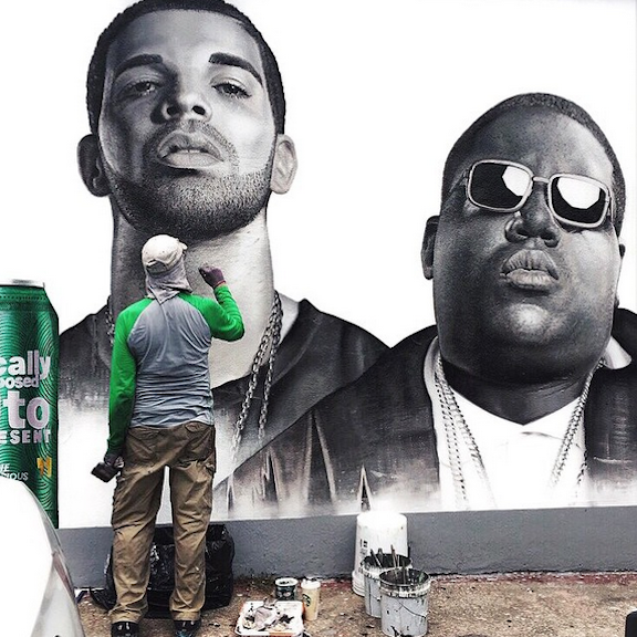 Drake and Biggie by Colossal