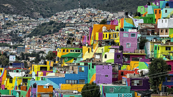The vibrant hill of Las Palmitas. Image by Omar Torres/AFP/Getty Images