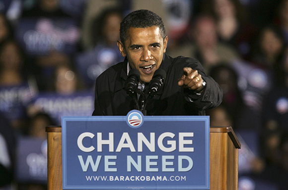 Obama communicated effectively with his font choice during his '08 presidential campaign.