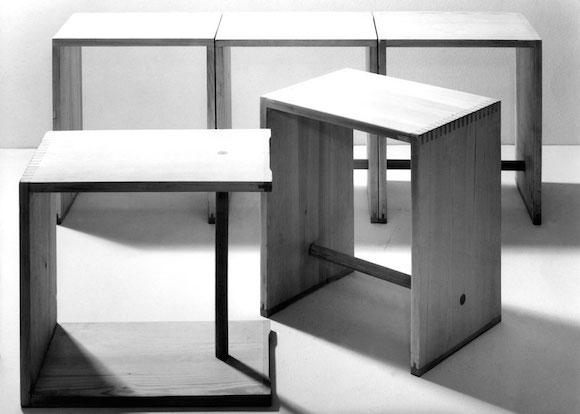 Ulmer Hocker, or Ulm stool, 1954 Photograph by Ernst Hahn