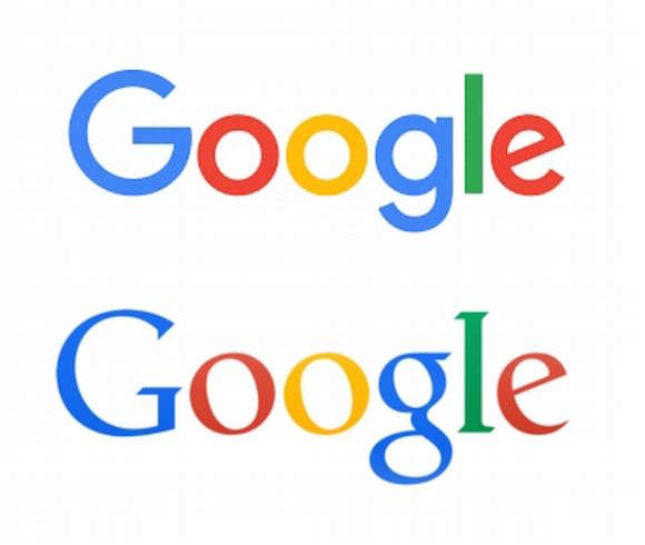 Google says out with the old (bottom) and in with the new (top).