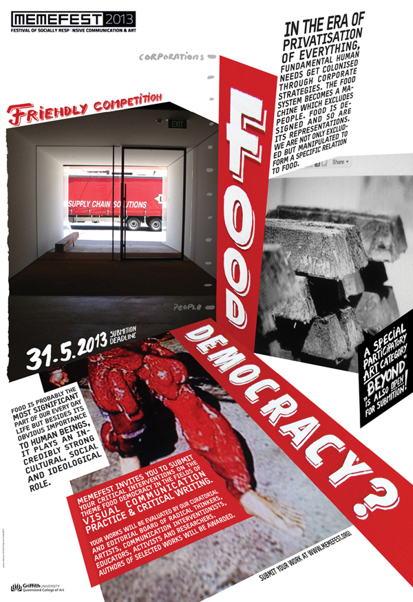 Memefest 2013 poster: Rok Klemencic and Oliver Vodeb.