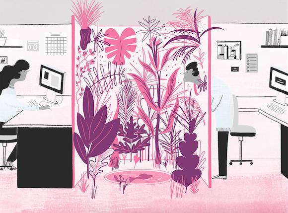 'Quiet Time' in the studio, from Desktop August/September.