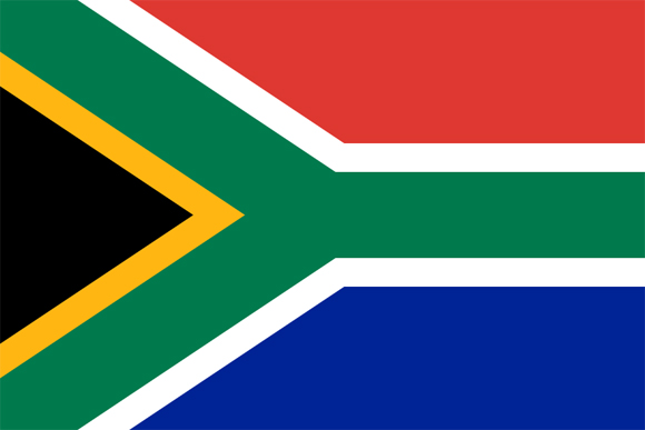 South Africa: Present Flag