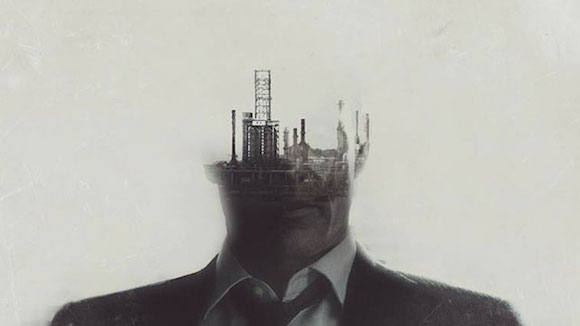 Still from the opening titles designed by Elastic for season one of True Detective