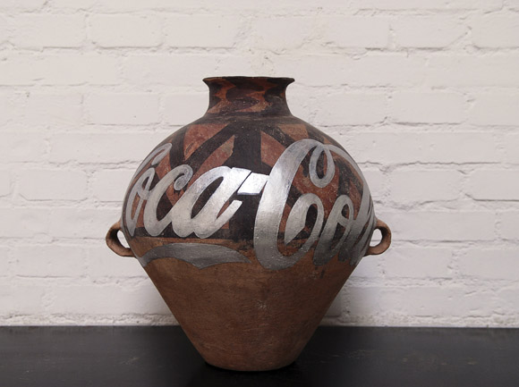 Neolithic Pottery with Coca Cola Logo 2007