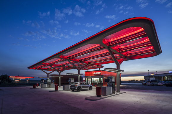 Petrol station design for Cepsa, by Saffron Brand Consultants