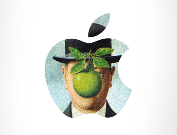 Apple + The Son of Man by René Magritte