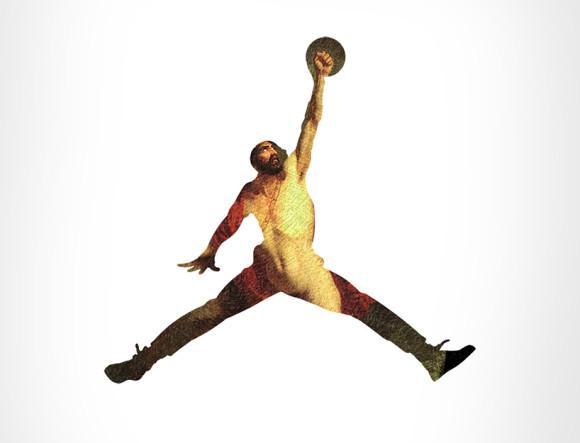 Air Jordan +  Death Of Ajax by Henri Auguste Calixte César Serrur