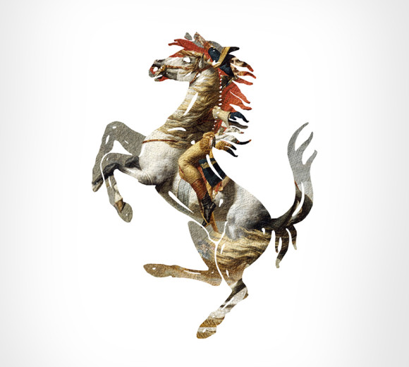 Ferrari + Napoleon Crossing The Alps by Jacques-Louis David