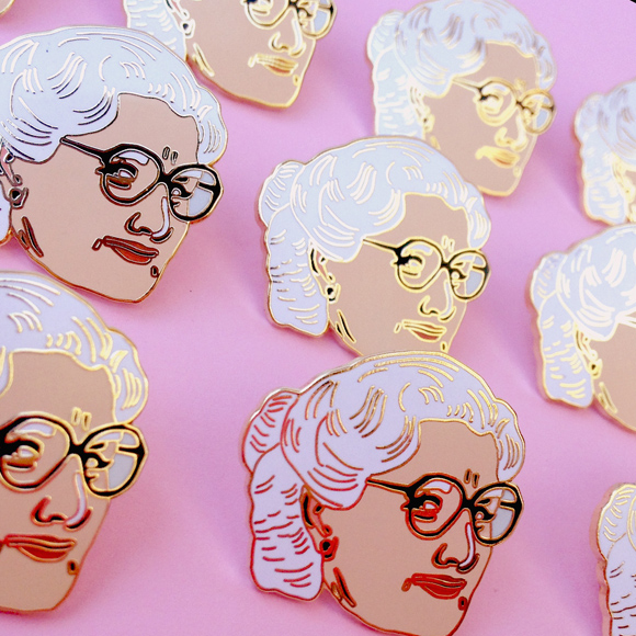 Illustrated Enamel Pins by Amy Blue