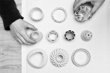 Stratigraphic porcelain – Antwerp design studio Unfold's experiments with 3D printing technology. Courtesy Unfold. Photo Kristof Vrancken